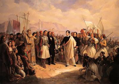 Lord Byron at Missolonghi by Theodoros Vryzakis, 1861