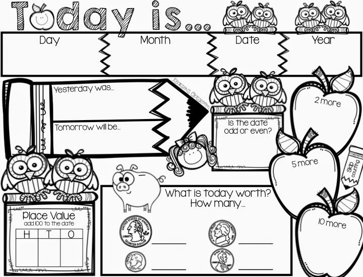 Calendar Math Kindergarten Activities : Calendar math worksheets first grade mental