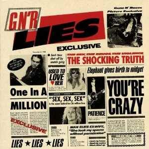 Guns N' Roses Lies cover album