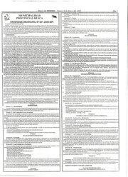 ORDENANZA MUNICIPAL Nº 001-2009/MPI