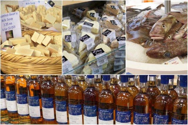 Festival Taste of Grampian, Sabor de Grampian – Jabon de leche de cabra, tartas de queso, pescado, whisky