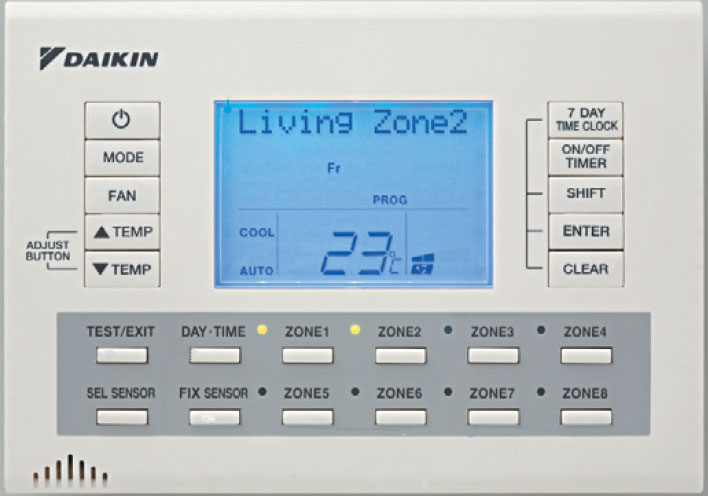 daikin remote control how to use