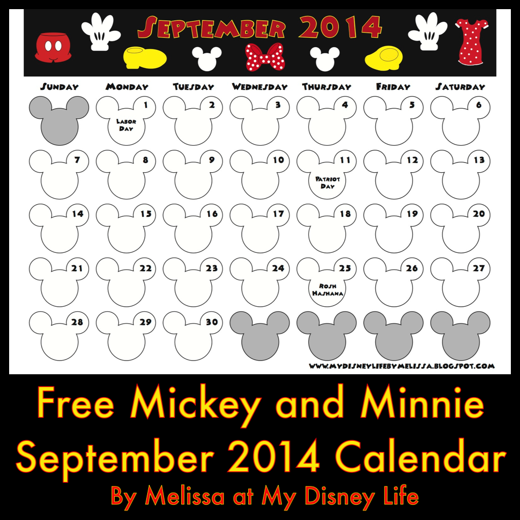 ... Mickey and Minnie calendar too! Let's spread the Disney Magic