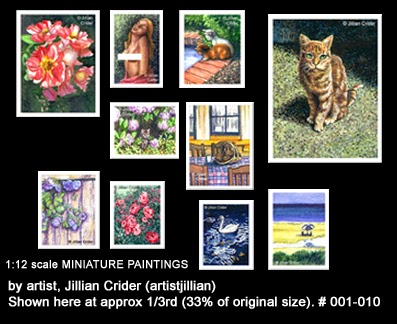 Page 1 - dollhouse miniature original paintings gallery
