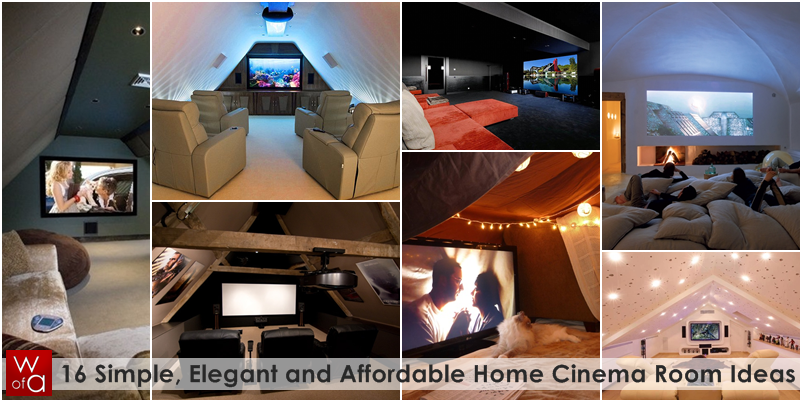 16 Simple, Elegant and Affordable Home Cinema Room Ideas