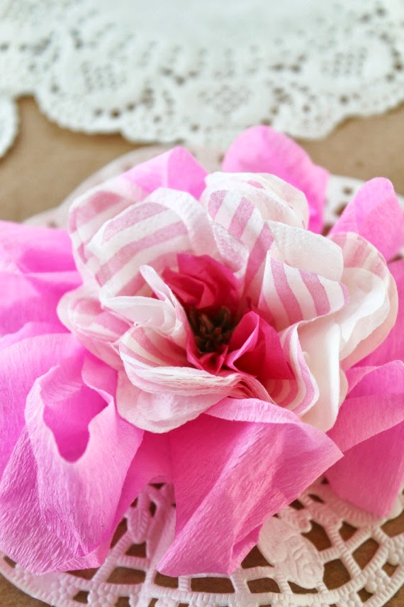 paper flowers doily crepe paper diy crafts tissur paper party decorations