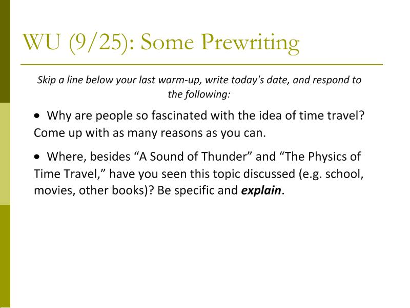 "Ray Bradbury's ""A Sound of Thunder"" Summary, Analysis, Lesson Plans"
