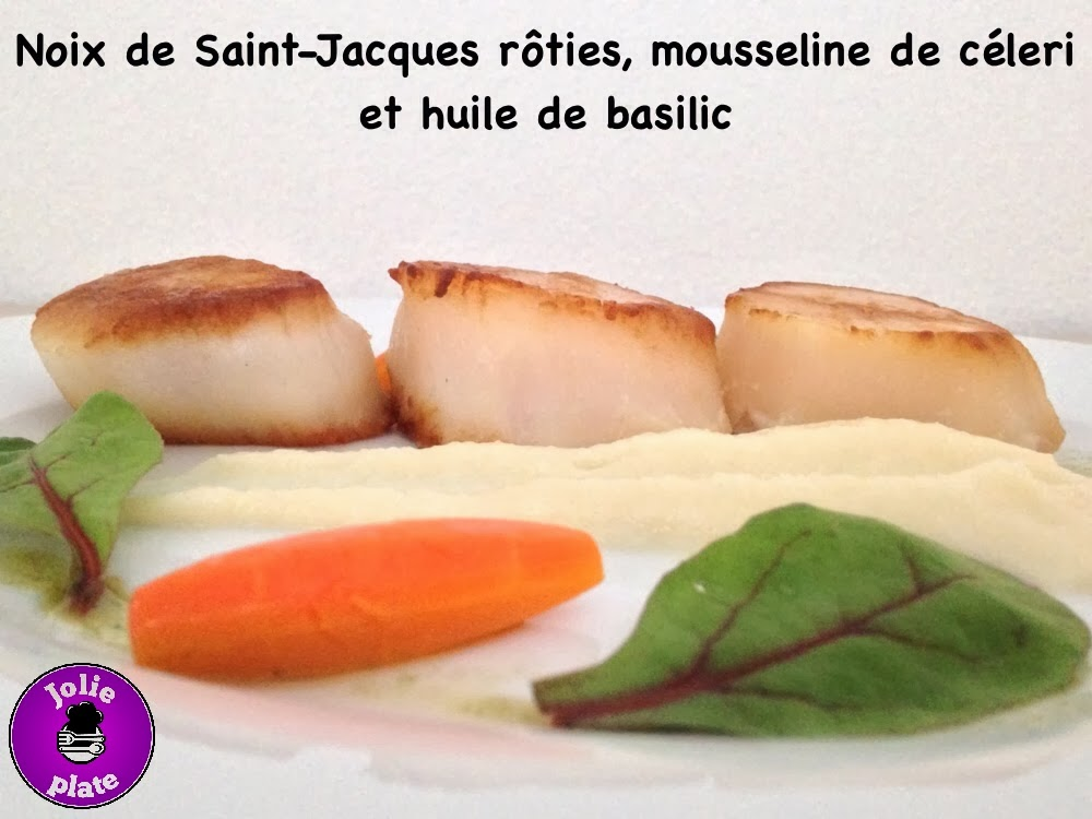 Jolie plate noix de saint jacques r ties mousseline de - Comment couper le basilic ...