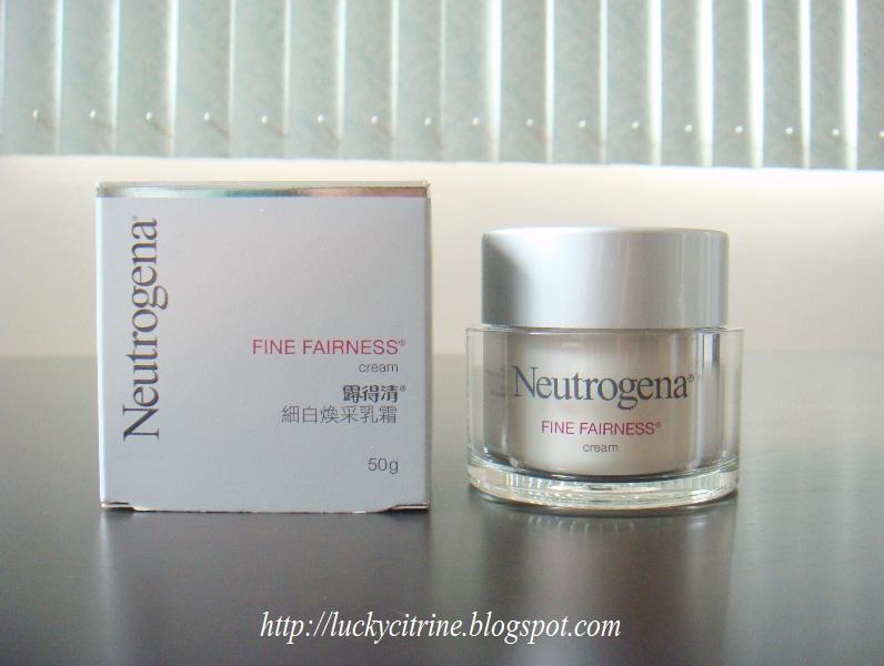 neutrogena face whitening cream