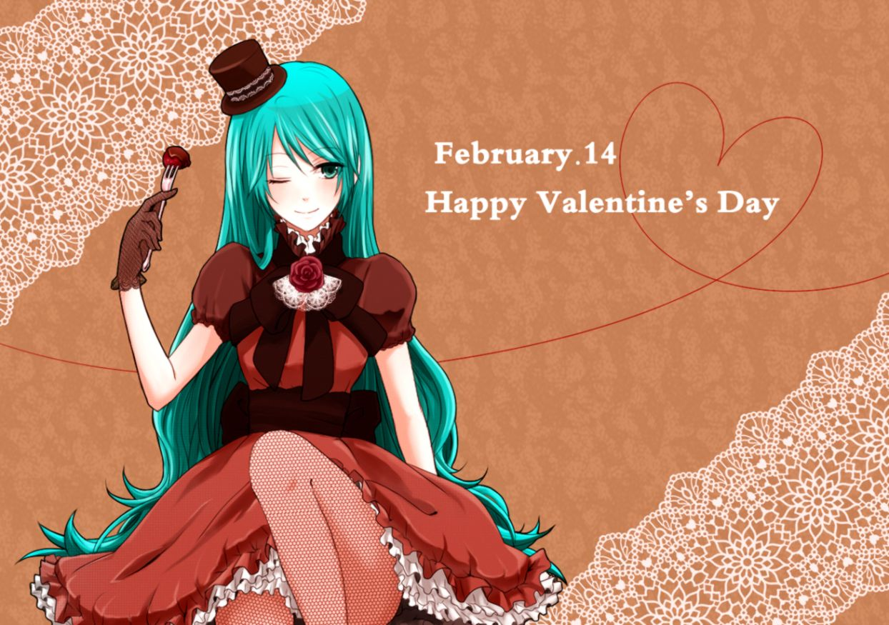 Anime Happy Valentines Day Wallpaper Hd Wallpaper Background Hd
