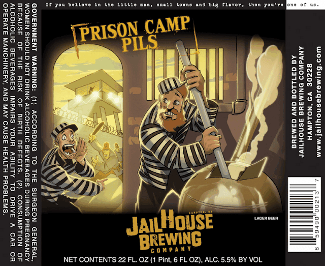 Jailhouse Brewing Prison Camp Pils label
