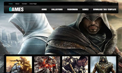 Games Blogger template