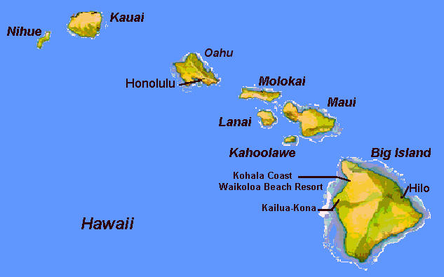 Map Of Hawaii Islands Big Island Map Map Of USA States - Hawaii islands on a map with us