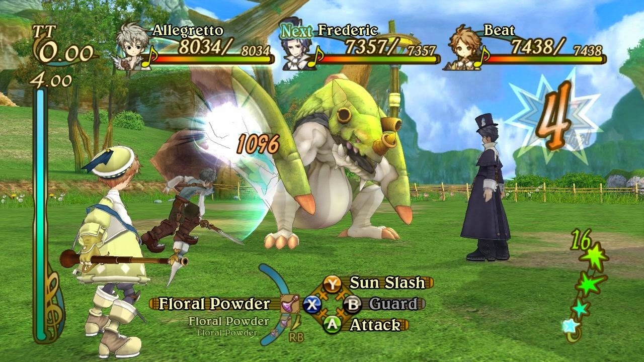 Eternal Sonata Game Review ps3 Xbox 360 battle ground view