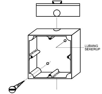 cara pasang kotak saklar persegi pada instalasi listrik
