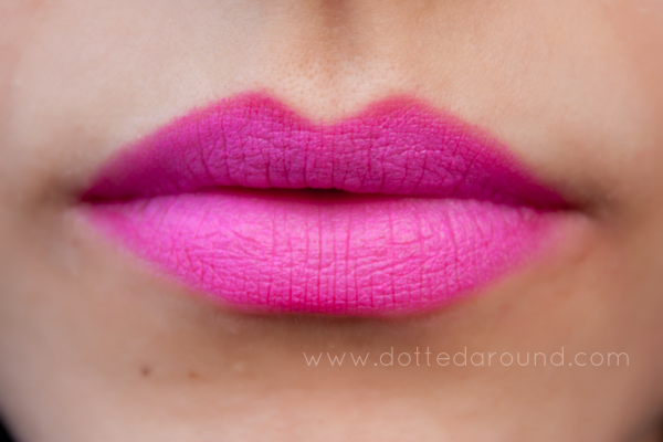 MAC Candy Yum Yum ombre lips swatches