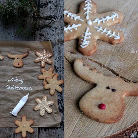 Miodowe ciasteczka pachnące Świętami i życzenia