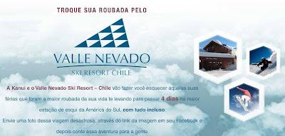 """Promoção """"Troque sua Roubada pelo Valle Nevado"""""""