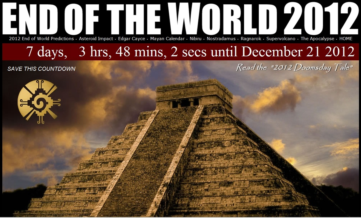 2012 the end of the world Why it's unlikely the world will end on  while others—including national geographic's star atlas  2012, the end of the maya long-count calendar.