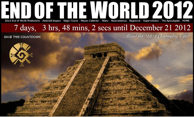 2012 end of the world End of the world prophecies menu predictions that a major world transition was going to happen on 2012-dec-21 all viewpoints our predictions.