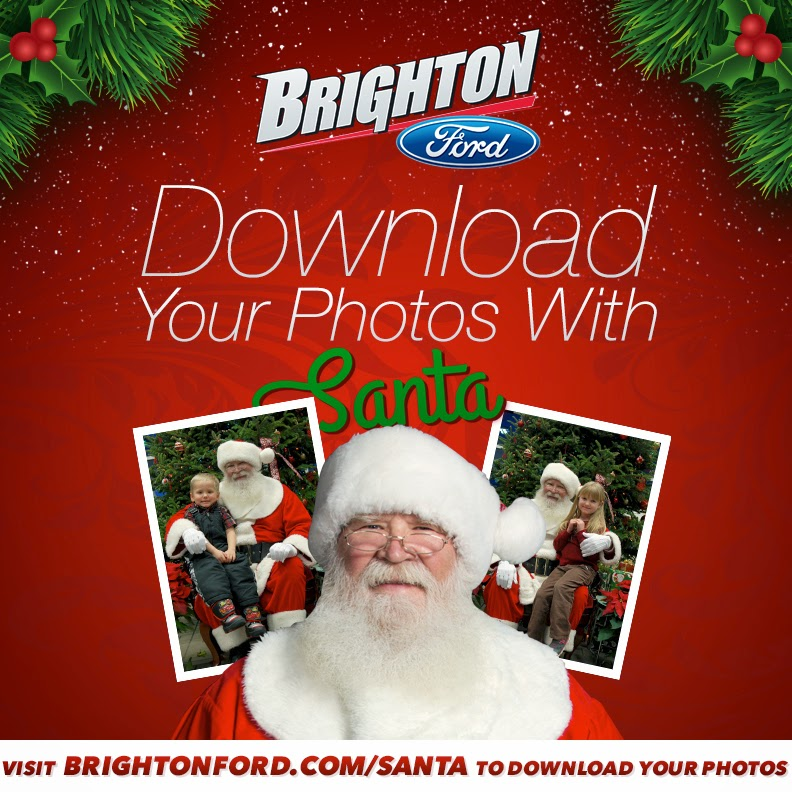 Download Your FREE Santa Photos from BrightonFord.com/Santa