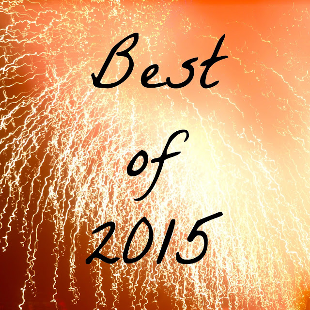Best of 2015 text on fireworks background