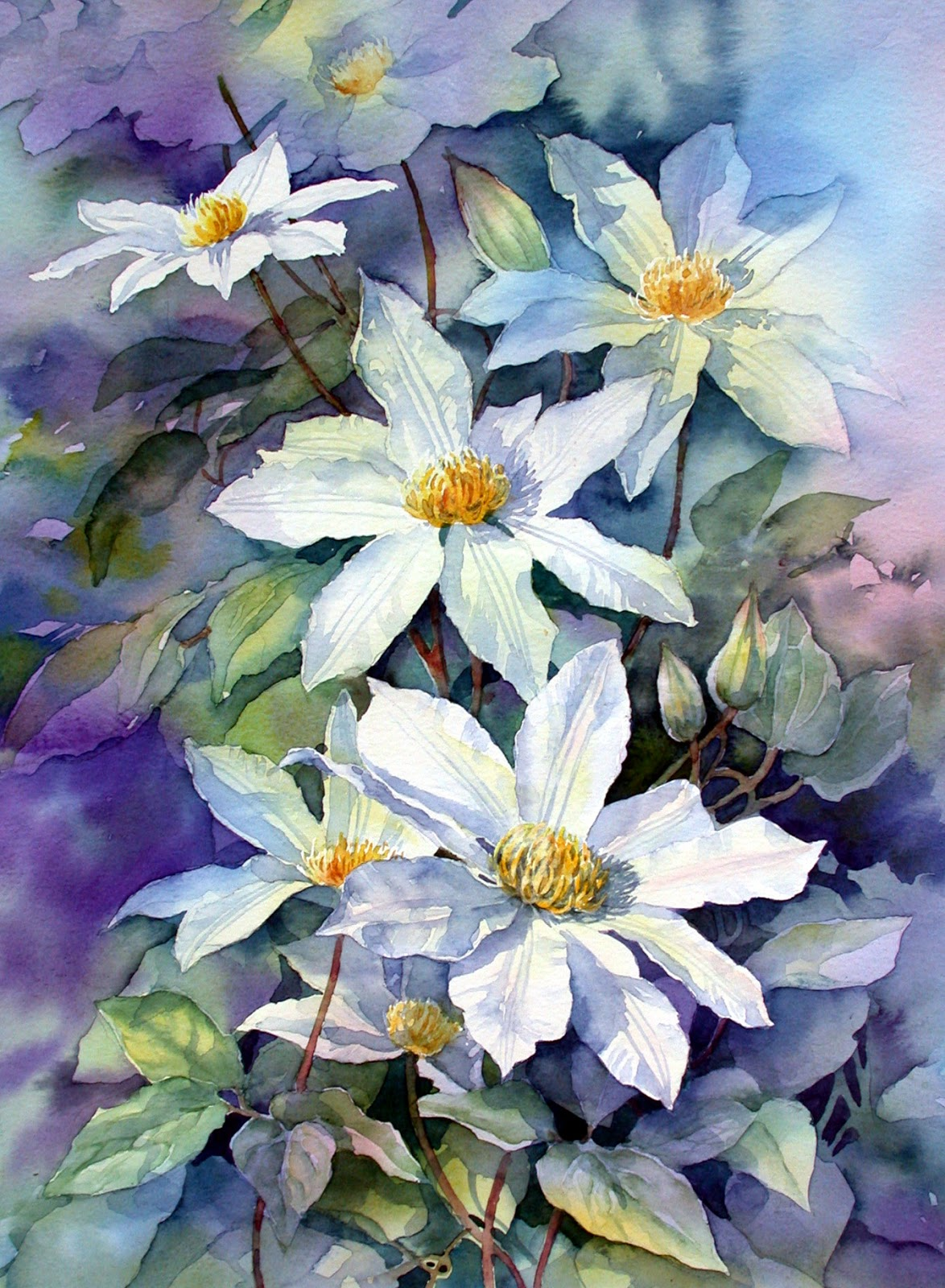 Ann 39 s watercolour studio retford art society demo and the - Couleur lilas peinture ...