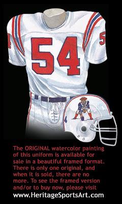 New England Patriots 1988 uniform