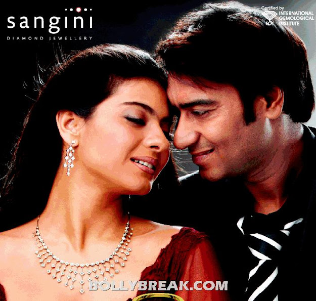 Kajol Sangini Jewellery Print Ad with Ajay Devgan - Kajol Sangini Jewellery Print Ad with Ajay Devgan