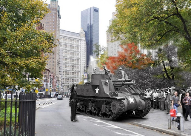 Nueva York, los mismos sitios antes y ahora