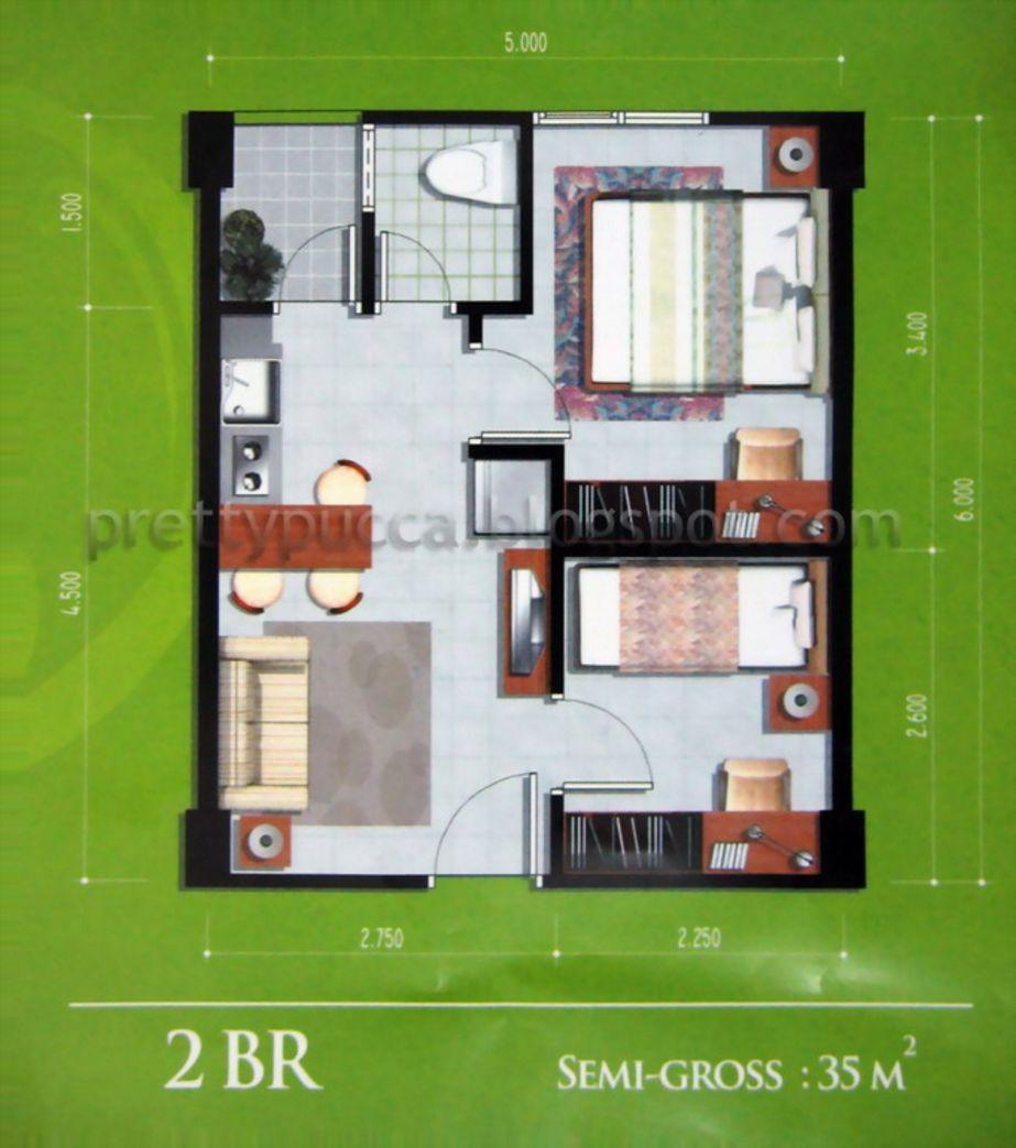 desain denah rumah kecil sederhana yang populer