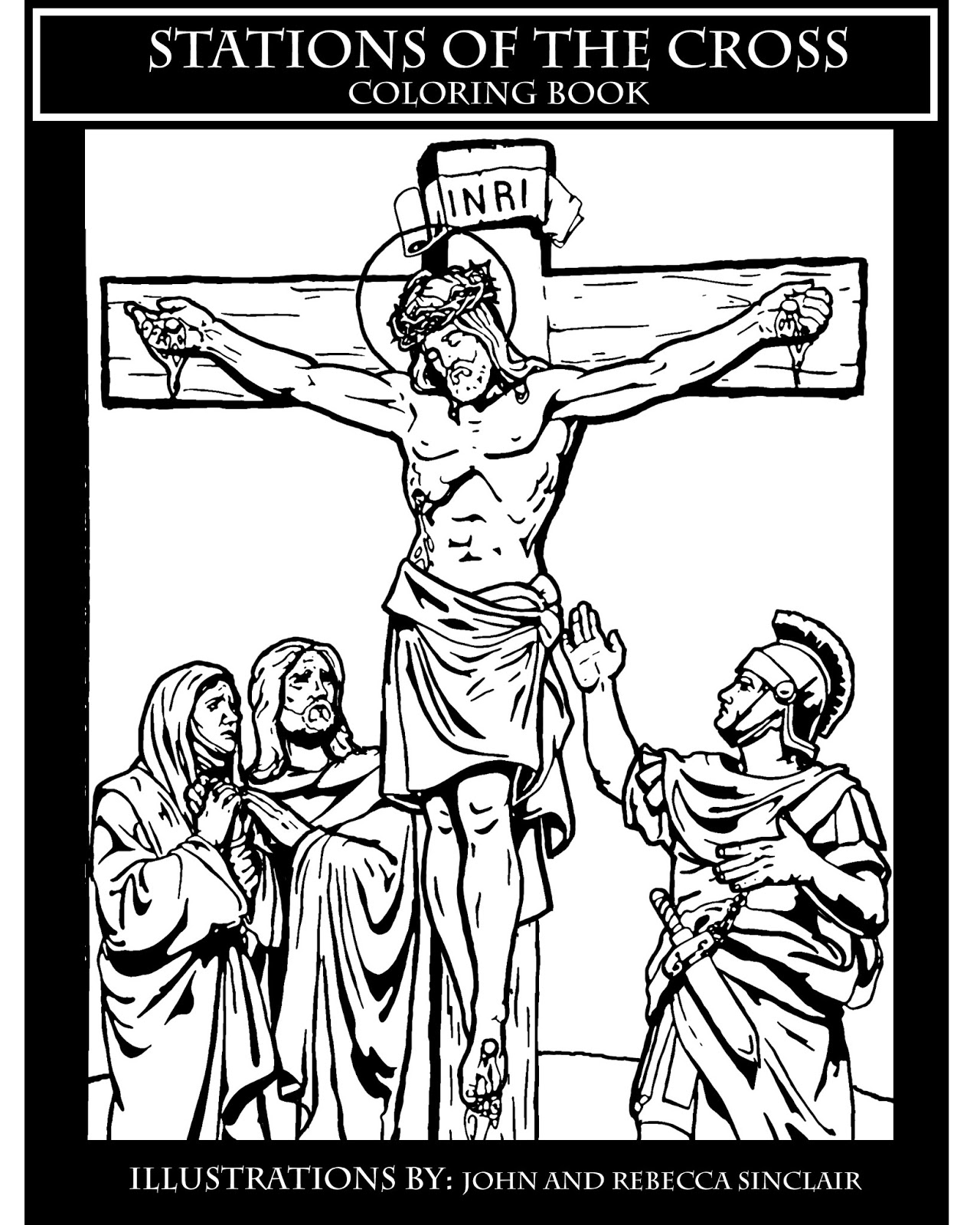stations of the cross coloring pages - art blog