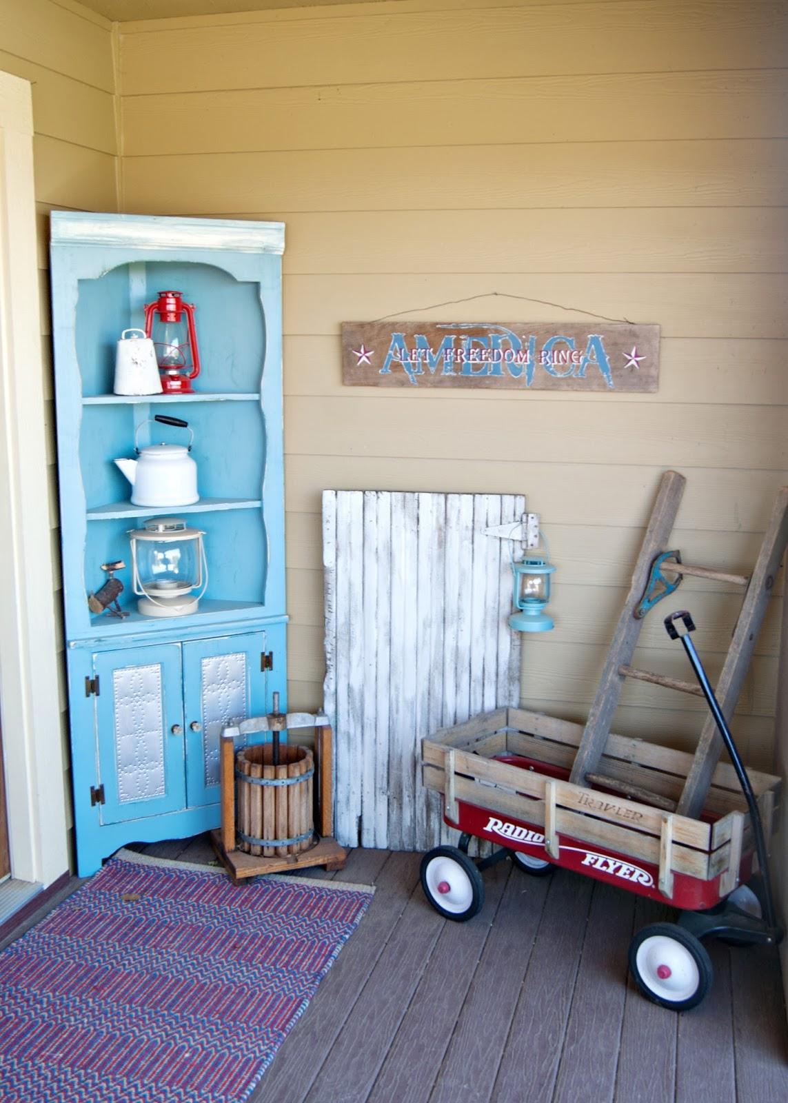 A Vintage Americana Front Porch