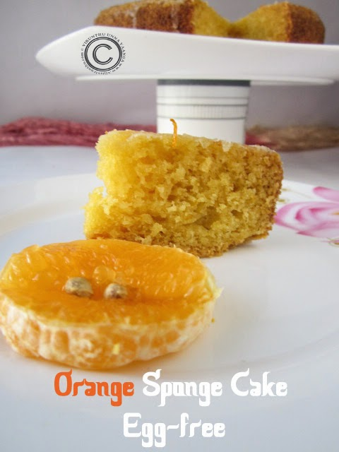 Orange-sponge-cake-for-birthday