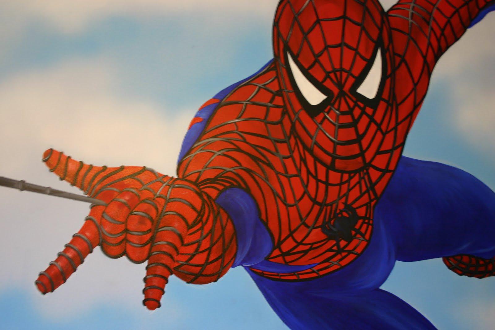 mural designs the muralist spiderman wall mural. Black Bedroom Furniture Sets. Home Design Ideas