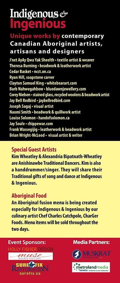 Check out the roster of Indigenous artistic talent