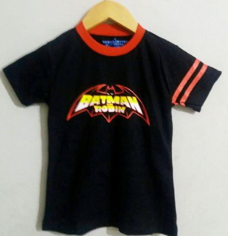 Baju Anak Karakter Batman Logo Hitam Size 1 - 6 Tahun