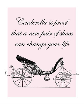 fancy carriage with Cinderella new shoes text