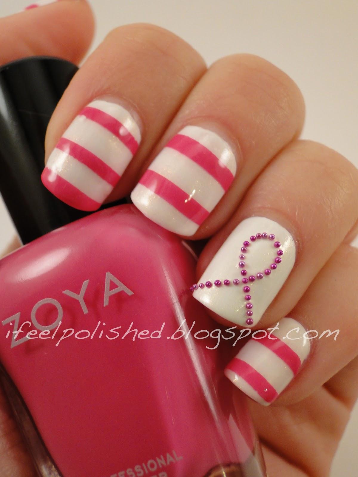 I Feel Polished!: Breast Cancer Awareness Nails: Take Four