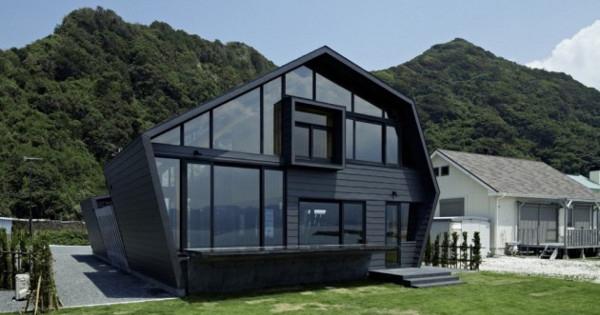 Dise o de casas fachadas de viviendas fotos e ideas de diseno de casas casas de madera y cristal - Disenos de viviendas ...