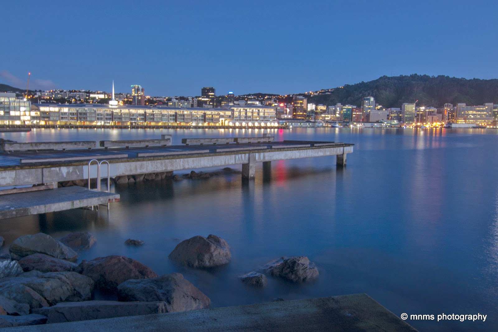 Wellington waterfront long exposure