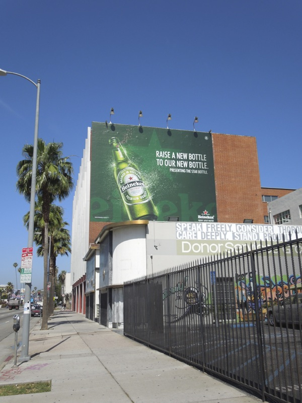 Raise bottle Heineken Star billboard
