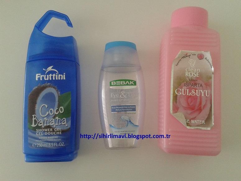 fruttini, bebak, clean rose, gülsuyu, göz makyajı temizleme, duş jeli