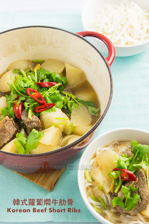 韓式蘿蔔燜牛勒骨【簡易好味】Korean Braised Beef Short Ribs