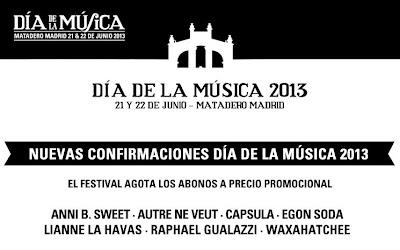 Dia de la musica 2013 confirmaciones 25 abril 2013