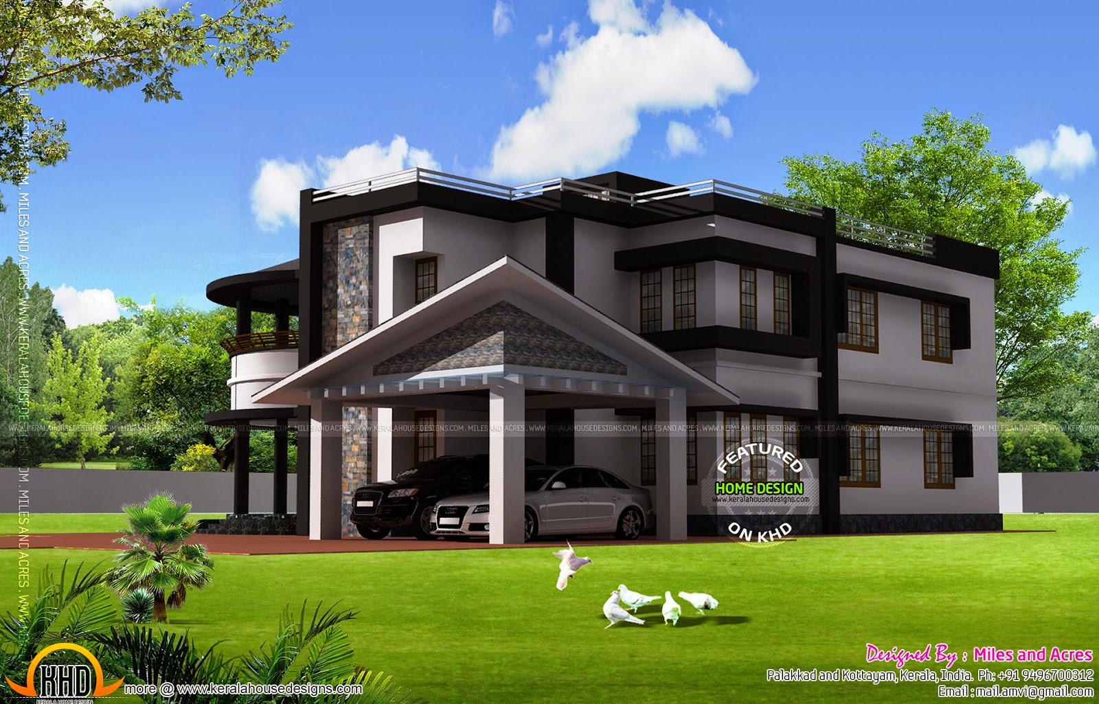 House Plan And Elevation By The Miles Acres