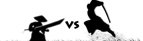 La Patate Chaude, Un samourai se bat contre des ombres