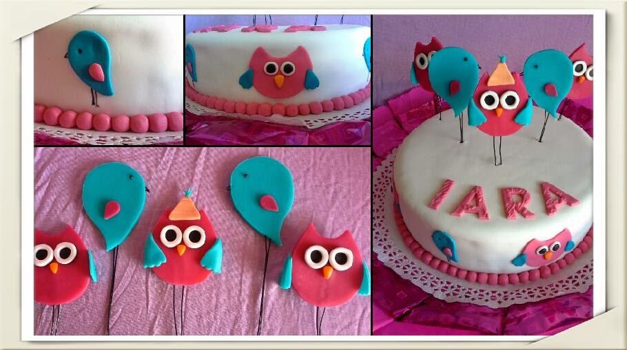 Torta Buho y Pajaritos