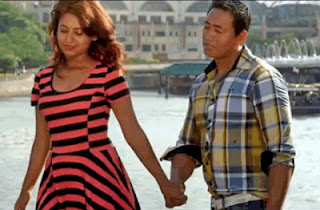 Keki Adhikari with a new actor