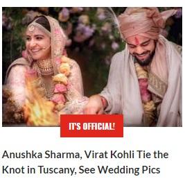 Anushka-Virat Wedding News